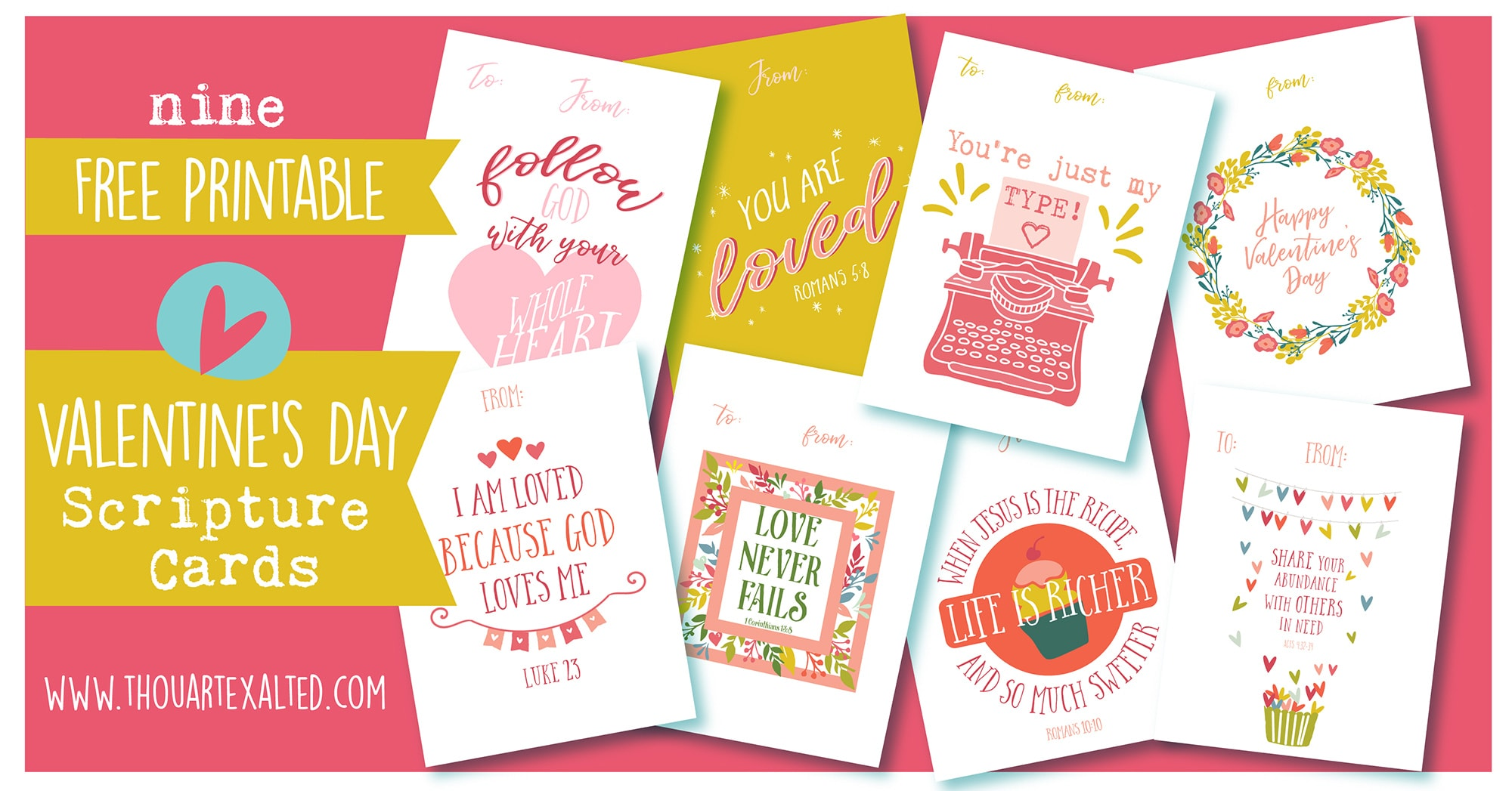 photo regarding Sweetest Day Cards Printable called No cost Scripture Valentines Playing cards ThouArtExalted